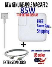 GENUINE APPLE 85W MagSafe 2 RETINA MacBook Pro Adaptor Charger + EXTENSION CORD