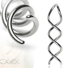 Earrings Rings 316L Surgical Steel Swirl Twist Tapers - Sold as a pair [Jewelry]