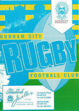 DURHAM CITY RUGBY UNION v HALIFAX  PROGRAMME 10 APRIL 1993