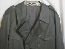 Vintage Men's Black Canada Trench Coat w/wool zip liner.Double Breat Sz 46