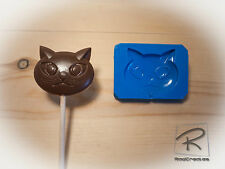 Cat silicone mould/mold for lollies,choc,cake topper, sugar craft