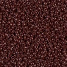 Miyuki Rocailles 11/0 rund 2 mm braun / chocolate/ caffee / brown ca. 9,9 Gramm