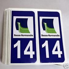 2 stickers REFLECHISSANT département 14