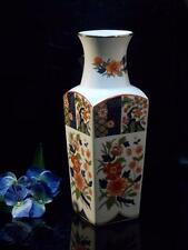 OLD IMARI PORCELAIN VASE MADE IN JAPAN FLORAL HOME DECOR VASE