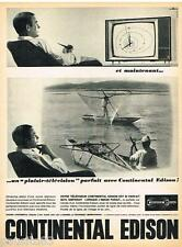 PUBLICITE ADVERTISING 105  1964   CONTINENTAL EDISON  téléviseur