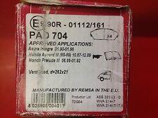 APEC Delantero Pastillas de freno para adaptarse a Honda Leyenda Preludio 2.7 88-91 4WS 88-92 PAD704