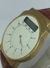 Junghans Mega Radio-Controlled Collectible German Watch Gold Plate Atomic (N656)