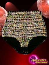 CHARISMATICO Sexy dance drag queen's stylish crystal panty in multiple colors
