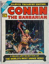 Conan the Barbarian Marvel Treasury Edition 4 Magazine 1975 Barry Smith art REH