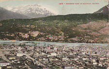 POSTCARD BIRDSEYE VIEW OF SKAGWAY ALASKA  11-40