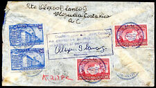 COSTA RICA TO ARGENTINA Cover 1942 (2 stamps are missing)