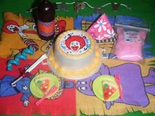 Barbie McDonalds Fast Food Birthday Party Cake & Rement Decorations Lot Pizza