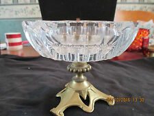 Antique Crystal Ashtray Ornate footed  base stand