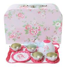 Tiger Tribe Vintage Tea Set - Pink Roses Pretend Play Kitchen Toy