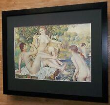 Los bañistas por Renoir, Marco 20''x16'', pinturas de desnudo impresionista Masters