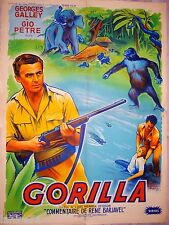 GORILLA  ! affiche cinema jungle , no tarzan
