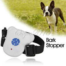 ULTRASONIC ANTI BARK PET DOG TRAINING Device COLLAR control stop barking White