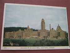 University of Montreal Universite de Montreal Quebec Canada - Vintage Postcard