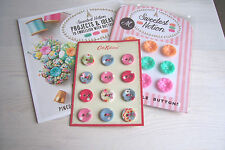 CATH KIDSTON fabric covered BUTTONS on card MOLLIE MAKES vintage style buttons