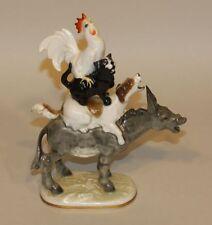 Hutschenreuther K. Tutter Bremen Town Musicians Donkey Dog Cat Rooster Figurine
