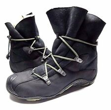 MERRELL WOMENS WINTER BOOTS BLACK SUEDE LEATHER SHOES SIZE 8.5