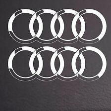 2 x anneaux audi voiture autocollants en vinyle anneaux graphiques stickers logo-Ring 110mm dia