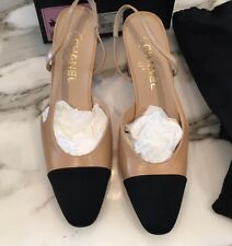 NIB CHANEL TWO TONE SLINGBACKS US10 EU40