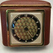 Lux Vintage Travel Alarm Clock 1940's 1950's RARE - FOR PARTS