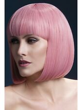 "Fever Elise Wig 13"" Pink Short Bob Wig Ladies Deluxe Fancy Dress Wig"