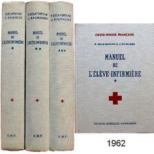 Manuel de l'élève infirmière 1962 Delafontaine Balmadier Croix-Rouge médecine