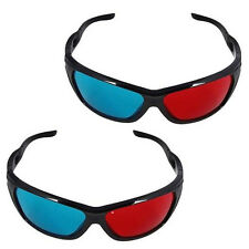 2x N-Vidia 3D-BRILLE CYAN ANAGLYPH ROT BLAU Brillen Anaglyph Glasses Kino REAL