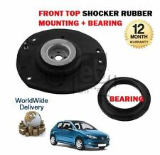 FOR PEUGEOT 206 1998-- ON FRONT SHOCKER STRUT TOP RUBBER MOUNTING + BEARING SET