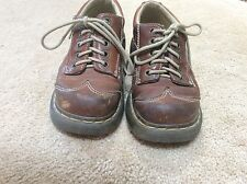 Dr Martens 12280 Brown Leather Oxford Shoes Women's US 5 UK 3 EU 36 w/ Flowers