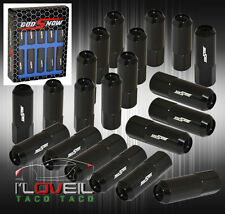 M12 X 1.5MM LONG EXTENDED RACING PERFORMANCE LUG NUTS KIT JDM HONDA ACURA BLACK