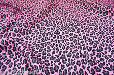 "PINK GRAY LEOPARD ANIMAL PRINT 100% COTTON FABRIC 44""W SKIRT DRESS SCARVES DRAPE"