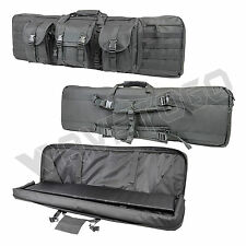 """VISM NcSTAR Tactical 42"""" Padded Double Carbine Rifle Weapons Gun Case Urban Gray"""