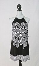 ALFANI Silver Chain Strap Tunic Length Halter DRESS Size L NWT $69.50