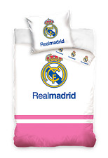 NEW Official FC REAL MADRID pink Baby Toddler Bedding Set 100% COTTON Cot Cotbed