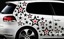 93 Sterne Star Auto Aufkleber Set Sticker Tuning Shirt Stylin WandtattooTribel 9