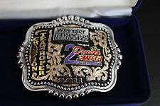Wrangler Team Roping Championship Trophy Buckle PRCA NFR AQHA USTRC HLS&R Rodeo