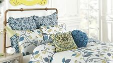 ANTHOLOGY BLOOMSBURY 1 EURO EUROPEAN PILLOW SHAM FLORAL MEDALLION BLUE