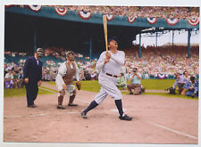 MODERN POST CARD: THE GREAT New York YANKEE Stadium BABE RUTH baseball player !