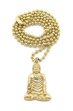 "NEW BUDDHA SMALL MICRO PENDANT 3mm &27"" BALL CHAIN NECKLACE MMP8"