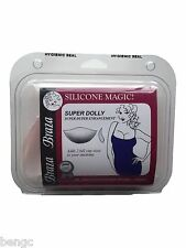 BRAZA Silicone Magic Dolly SUPER Bra Inserts Push Up Pads Wedge Breast Enhancers