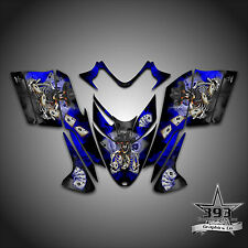 Polaris IQ RMK Shift Dragon Graphics Decal Wrap 2005-2012 Cowboy Outlaw Blue