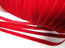 "10 yards Velvet Ribbon 3/8"" Satin back/Craft/9mm/Trim/bow R116-Christmas Red"