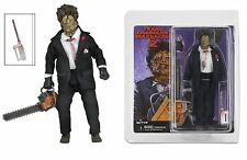 TEXAS CHAINSAW MASSACRE PART 2 LEATHERFACE ACTION FIGURE NECA DOLL RETRO STYLE