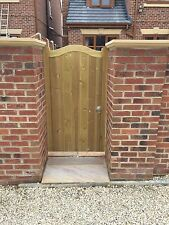 Solid Swan Neck Timber Garden Gate. Bespoke Wooden Gates Made To Order Tanalised