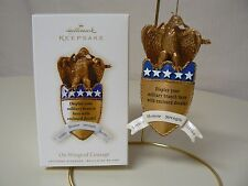Hallmark Ornament 2008 ON WINGS OF COURAGE Golden Eagle Military United States