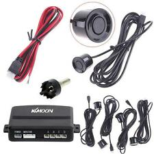 New Car 4 Parking Sensors Reverse Backup Radar System Kit Sound Alert US